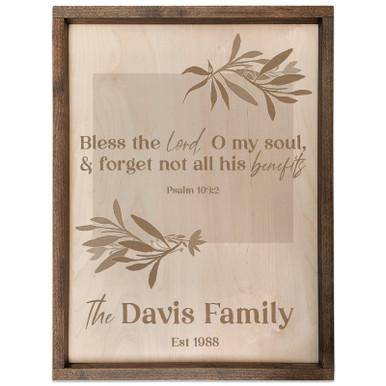 Personalized Scripture Plaque - Psalm 103:2 (Rectangle)