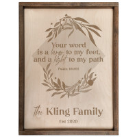 Personalized Scripture Plaque - Psalm 119:105 (Square)