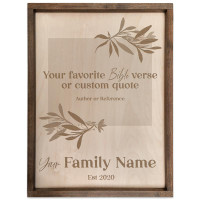 Personalized Family Name Sign with Custom Quote (Rectangle)