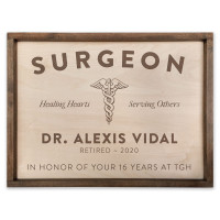 Retirement Gift for Surgeon - Personalized Surgeon Plaque