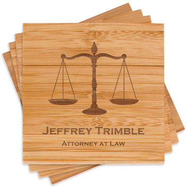 Attorney At Law Coaster Set