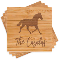Personalized Horse Lover Coaster Set