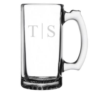 Classy Monogram beer mug