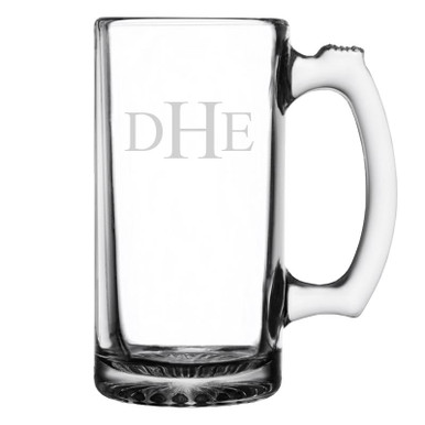 Traditional Initials Personalized Beer Mug