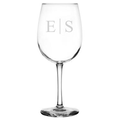 Personalized Wine Glass Classy Monogram