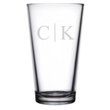 Personalized Pint Glass Classy Monogram