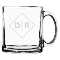 Personalized Coffee Mug Diamond Initials