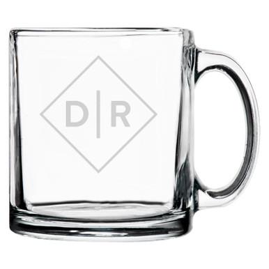 Personalized Coffee Mug Diamond Initials