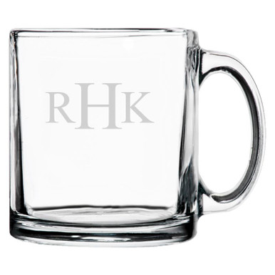 Personalized Coffee Mug Traditional Monogram