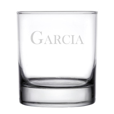 Personalized Rocks Whiskey Glass - Baskerville