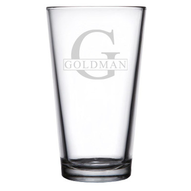Personalized Pint Glass Initial & Name