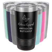 Introvert Gift: Antisocial Butterfly Tumbler
