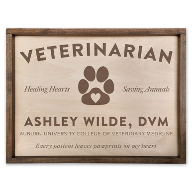 Best Gift for Veterinarian - Personalized Wood Plaque