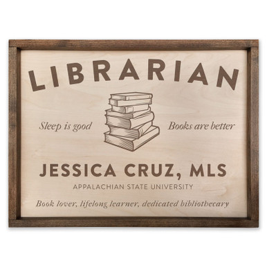 Book Lover Gift - Personalized Wood Plaque