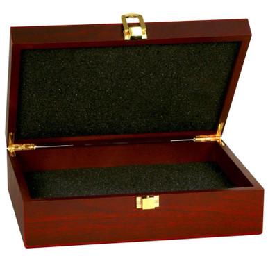 Rosewood Finish Presentation Box