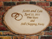 Custom Engraved Oval Natural Bark Wood Plaque