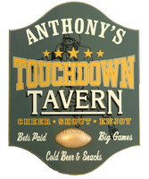 Touchdown Tavern Custom Football Pub Sign