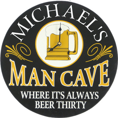 Man Cave Clock | Custom Man Cave Clock