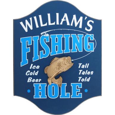 Fishing Man Cave Sign | Fisherman Custom Sign