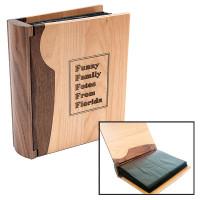 Personalized Wood Photo Album in Maple & Walnut