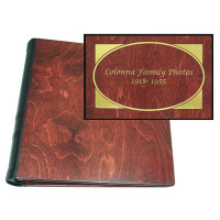 Personalized Photo Album Baltic Birch with Cherry Finish