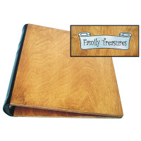 Personalized Photo Album Baltic Birch with Medium Brown Finish