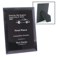 Glass Bevel Laser Engraved Plaque 6x8 | Commemorative Awards