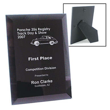 Glass Bevel Laser Engraved Plaque 7x9 | Commemorative Awards