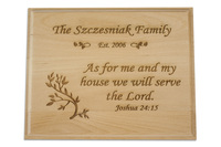 As For Me And My House Plaque Personalized