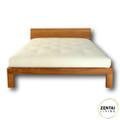 Samsara Bed Frame with Head Board in Solid American Oak