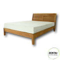 Sienna Bed Frame with Head Board in Solid American Oak