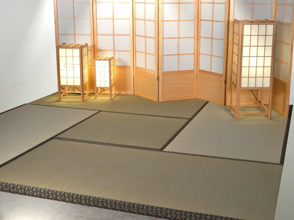 Tatami Mat Traditional Tea Room Tatami Set Up