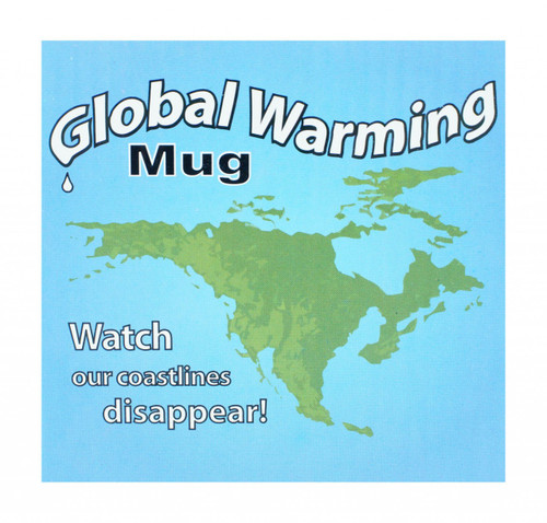 Global Warming Mug. Changes with Warm Water