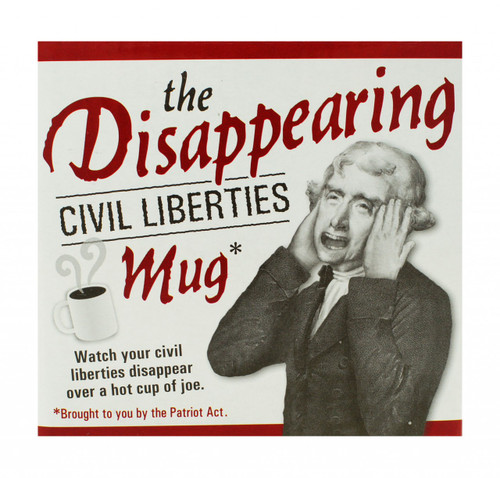 The Disappearing Civil Liberties Mug box image