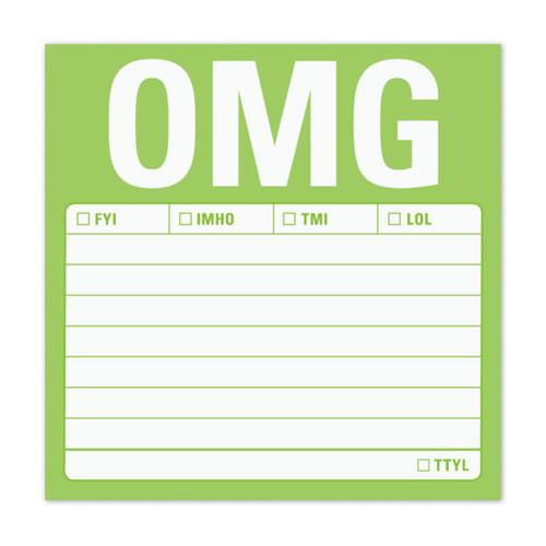 OMG Sticky Note Pad