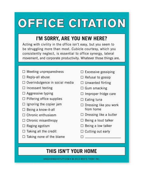 Office Citation Pad