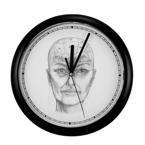 Elderly Phrenology Clock