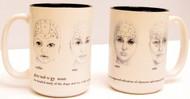 Phrenology Head Mug
