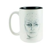 Phrenology Head Mug - Elderly