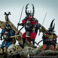 """CROWTOYS SAMURAI BEETLE """"GWEITONG"""" 1/12 SCALE ACTION FIGURES SET OF THREE"""