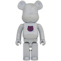MEDICOM TOYS BE@RBRICK 1ST MODEL WHITE CHROME 1000% VINYL FIGURE