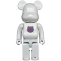 MEDICOM TOYS BE@RBRICK 1ST MODEL WHITE CHROME 400% VINYL FIGURE