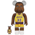 MEDICOM TOYS BE@RBRICK LOS ANGELES LAKERS MAGIC JOHNSON 100% & 400% VINYL FIGURE