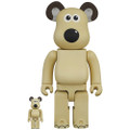 MEDICOM TOYS BE@RBRICK WALLACE AND GROMIT GROMIT 100% & 400% VINYL FIGURE