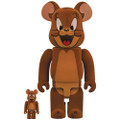 MEDICOM TOYS BE@RBRICK TOM & JERRY - JERRY FLOCKY 100% & 400% VINYL FIGURE
