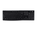 Logitech K270 Adv. 2.4GHz Wireless, 8 Hot Keys, Full Size Keyboard