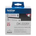 Brother DK22251 White Continuous Paper Roll Two Colour Black/Red 62mm x 15.24m