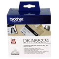 Brother DKN55224 White Non Adhesive Continuous Roll 54mm x 30.48mm