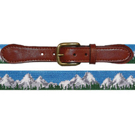 Smathers & Branson Tetons Needlepoint Belt