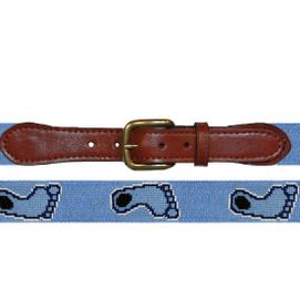 Smathers & Branson UNC Tar Heel Needlepoint Belt - Blue on Blue
